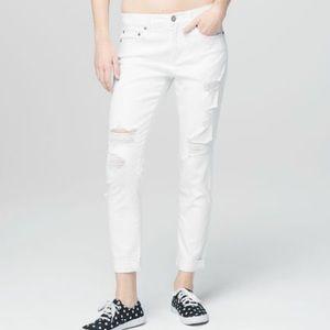 {Aeropostale} Girlfriend Destroyed White Wash Jean